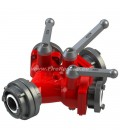 TRIPLE WATER DISTRIBUTER B/CBC WITH BALL VALVES WITH REDUCER COUPLING B/C